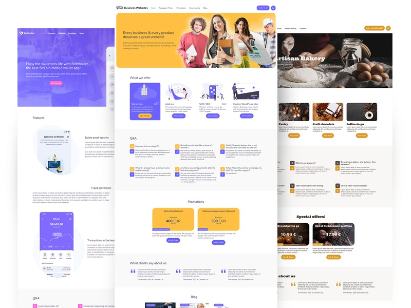 Turnkey Small Business Websites - home pages startup smallbiz small business smallbusiness cheap design webdesign ui interface website web design