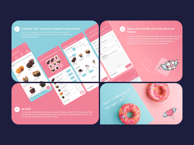 A Box 'o Awesome checkout bakery app bakery e-commerce app e-commerce mobile app mobile ui app figmadesign figma ui kit figma ui figmaui figma