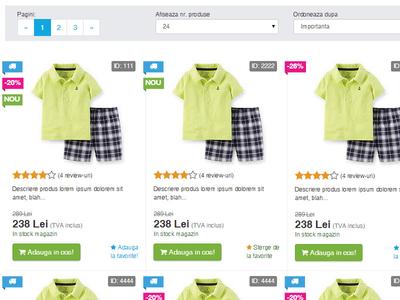 new UI for e-commerce soft shopping cart grid product e-shop shop e-commerce web design ui