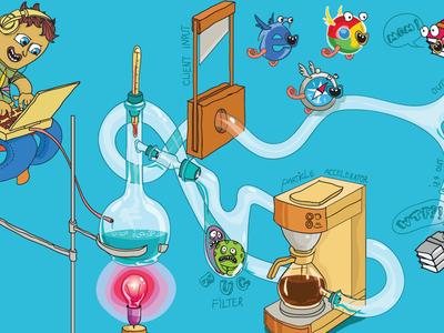 Pwd Distillery design vector blue flat illustration website web design ui