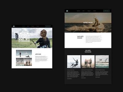 GSPOT KITEBOARDING WEB PAGE sports kitesurf surf kiteboarding camp school inspiring minimal clear clean aesthetics uiux ux design ux ui design ui web design webdesign web
