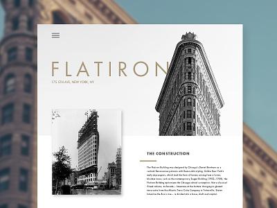 Flatiron architecture flatiron simple design web ux ui