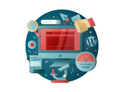 WIP Illustration transparency layers proposal graphics design web illustrator illustration