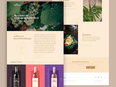 Adgestone Vineyard | Concept Site wine homepage design homepage concept type logo branding vector website typography ux design ui simple web clean