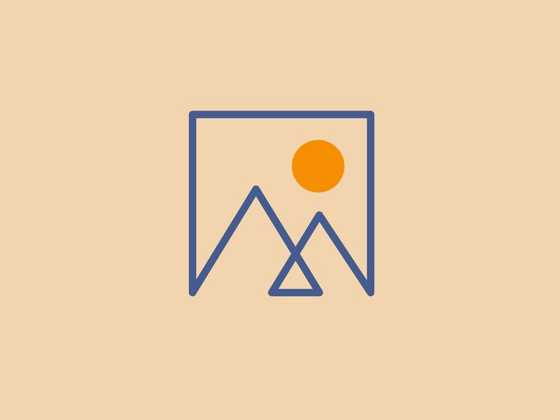 Mountain Range clothing brand clothing design clothing mountain minimal flat icon logo branding vector outdoors illustration design simple clean