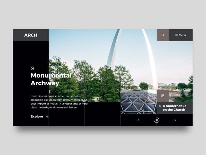 Arch architectural concept site typography minimal flat website designer website design website webpage design web webdesign ux ui clean simple