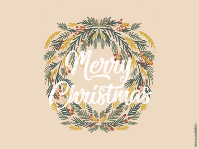 Merry Christmas Eve 🎅🎄 plants flat illustration eve typo merrychristmas warm colors illustration art illustration
