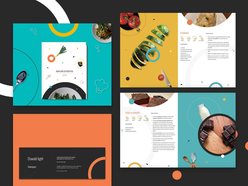 Cook book indesign colors kitchen book cooking illustration design graphicdesign