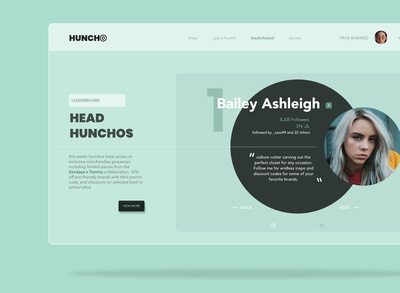 Huncho Concept Web Design