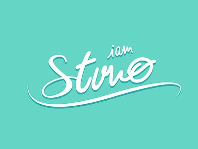I am Stvno identity handwritten logo