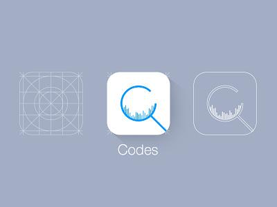 Codes codes app icon scanner barcode ui identity ios7 logo