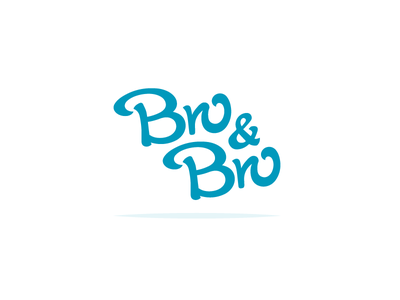 Bro&Bro icon handwritten vector 2d webshop logo identity flat cloth
