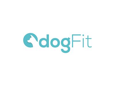 DogFit icon identity logo ci vector dog