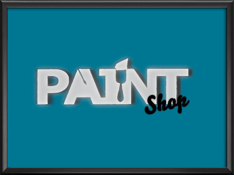 Paint ShOp graphic designer designer web design paint graphic design lettering art lettering logo design paint shop logo logo