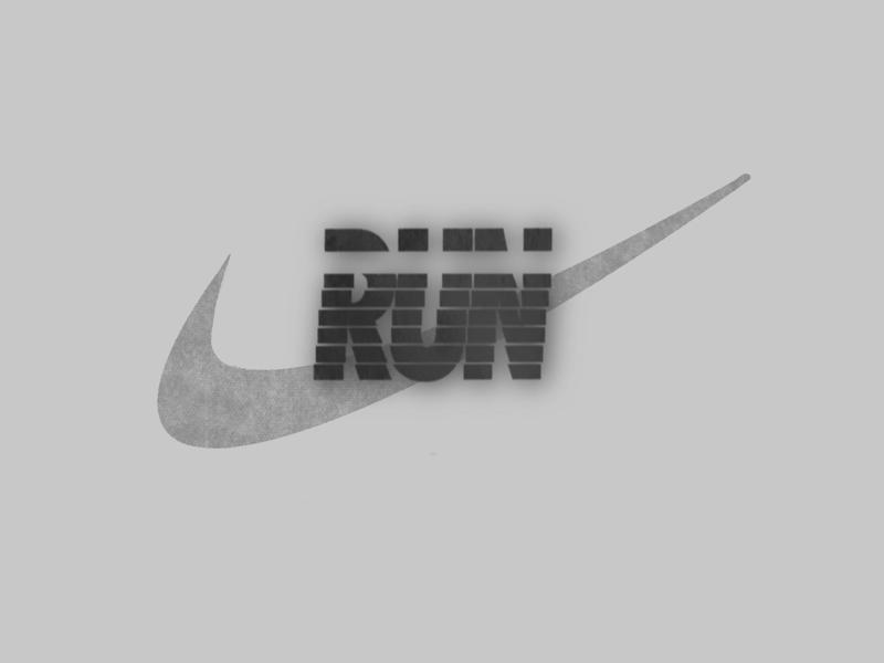 Run logo logo design procreate nike logo graphic design lettering logotype logo