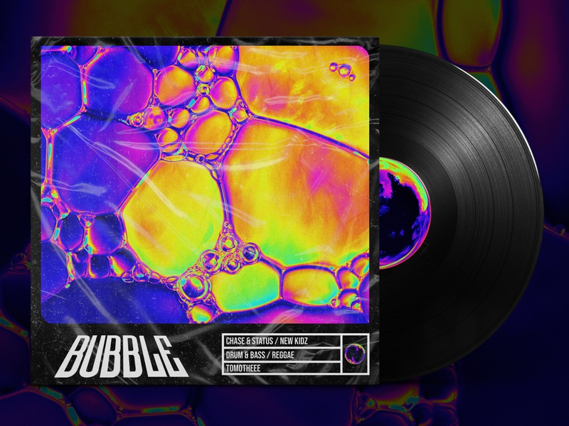 Bubble - Chase & Status - Cover design chase and status bubble drum and bass trippy liquid duotone design cover design cover artwork cover art cover colourful album cover album artwork album art acid