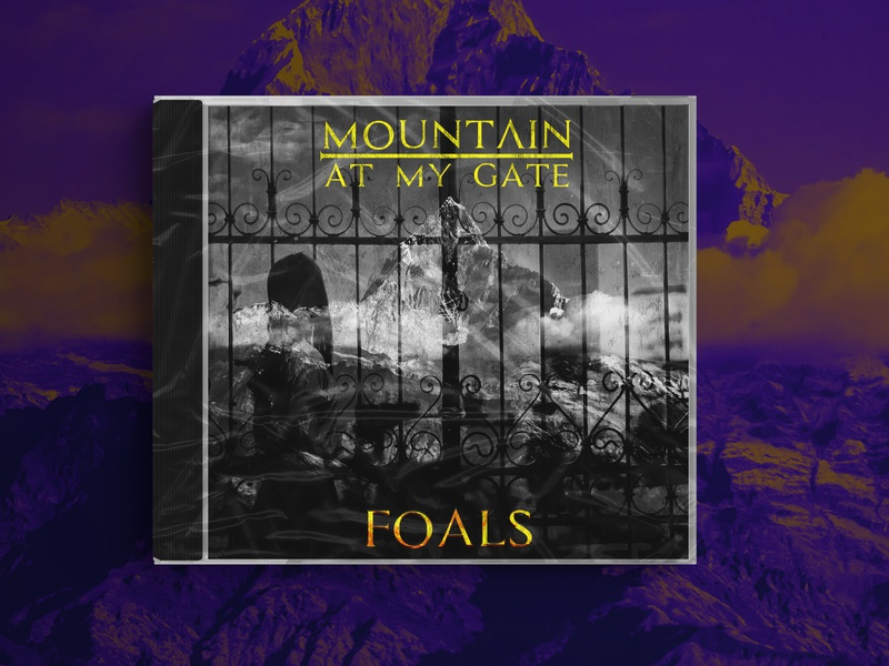 Mountain at my gate - Foals - Cover Design music gate mountain foals rock album cover design doubleexposure trippy liquid duotone design cover design cover artwork cover art cover colourful album cover album artwork album art