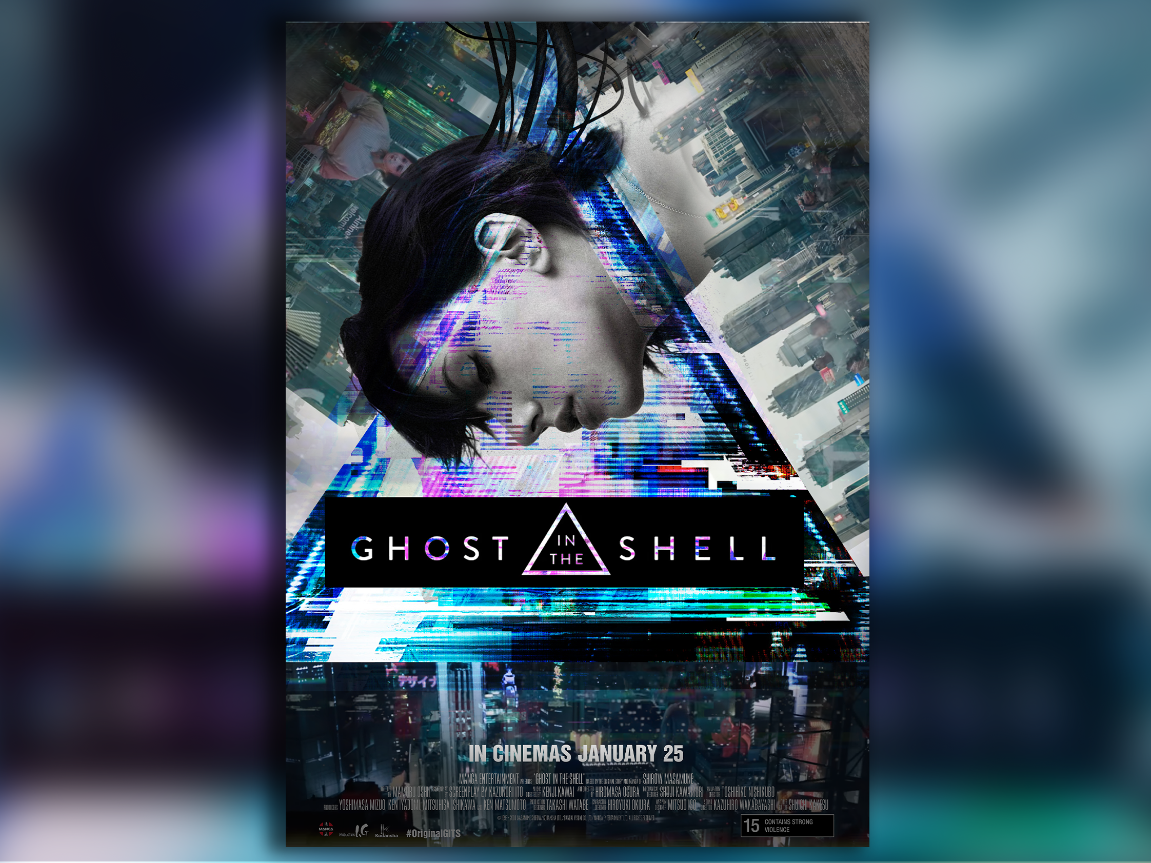 Ghost In The Shell Movie Poster By Tom Woodward On Dribbble