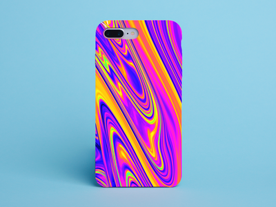 Liquid Phonecase Design neon marble product design phonecase advertising advert trippy redbubble lava acid duotone liquid colourful design