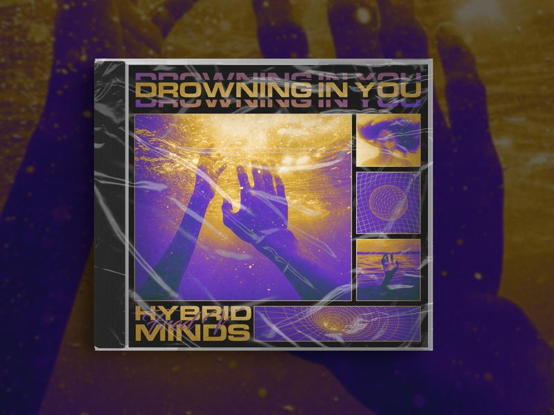 Drowning In You - Hybrid minds & Fred V - Cover design cover artwork cover design cover art cover album cover album art album artwork trippy acid duotone colourful liquid design