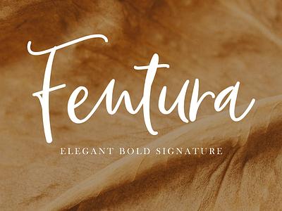 Fentura   Bold Signature design typography font awesome logotype handwritten lettering script advertising branding elegant font signature font signature