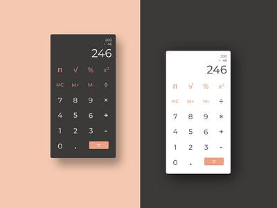 Daily UI 004 Calculator calculator ui design dailyui 004 dailyui