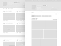 Wireframes — Profile page