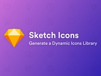 Sketch Icons - Generate a Dynamic Icons Library