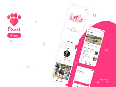 Paws - Pet Adoption/Social Media UI kit