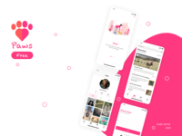 Paws - Pet Adoption/Social Media UI kit
