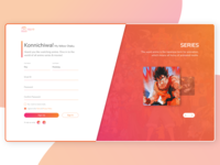 Website Concept Design - Login Page Experience
