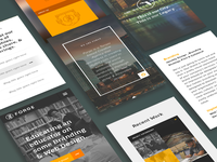 Forge Agency Website Mobile Screens