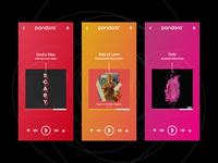 Pandora Music Player - Daily UI