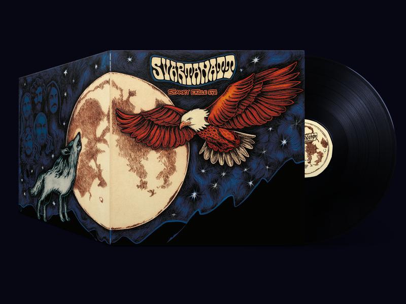 Svartanatt - Starry Eagle Eye t-shirt design pencil eagle photoshop art rock vinyl