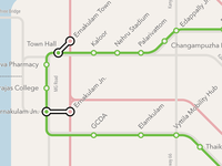 Kochi Metro Map