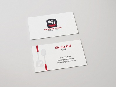 Messy Kitchen Business Card