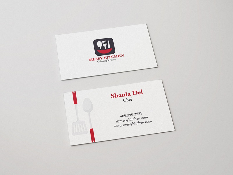 Messy Kitchen Business Card By Danish Hameed On Dribbble