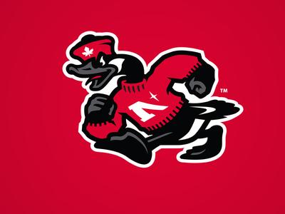 The Goose school identity characterdesign sports logo cap hat logo goose mascot college sport branding illustration slavo kiss