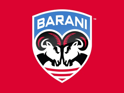 Barani Youth Hockey Academy brand identity sports logo design rams academy hockey identity sports branding slavo kiss