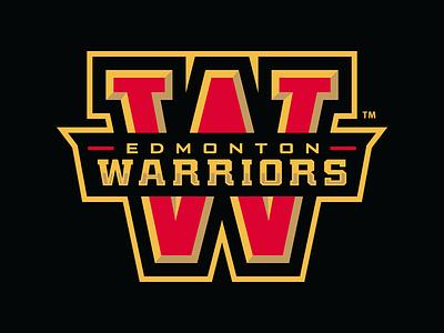 Edmonton Warriors Lacrosse Club canada edmonton warriors lacrosse sports logo branding identity sport slavo kiss