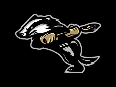 Badger brand sports canada lacrosse identity logo cransbrook badgers slavo kiss