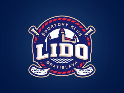 LIDO castle floorball brand sports slovakia team identity bratislava club logo lido slavo kiss