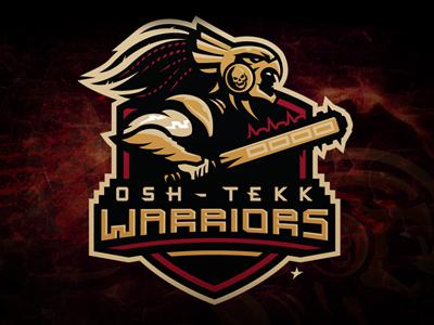 Osh Tekk Warriors branding identity mascot mortal kombat osh -tekk aztec warriors e-sports gaming saudi arabia slavo kiss