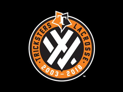 Tricksters 15th Anniversary Logo branding identity patch 15th xv anniversary tricksters sports lacrosse slovakia slavo kiss
