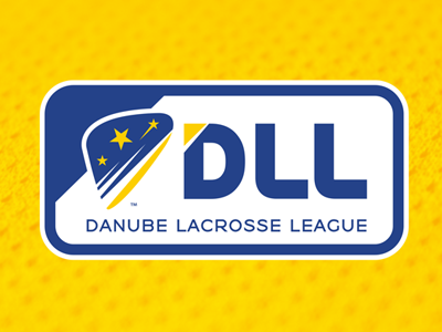 DLL branding identity athletic team logo league europe danube sports lacrosse dll slavo kiss