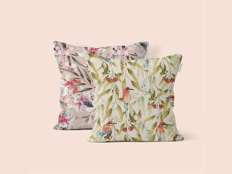 Silvana & Abril print cushions fabric design fabric pattern cushion deco surfacedesigner pattern art floral pattern pattern design pattern painting floralprint illustration watercolor