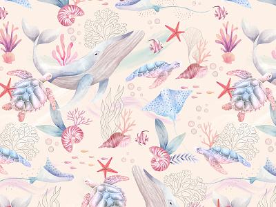 Kai Pattern procreate design painting child illustration pattern surfacedesigner illustration watercolor