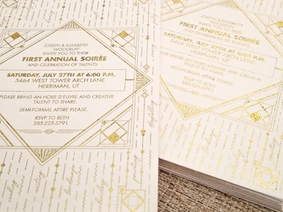 Gold Foiled Invitations