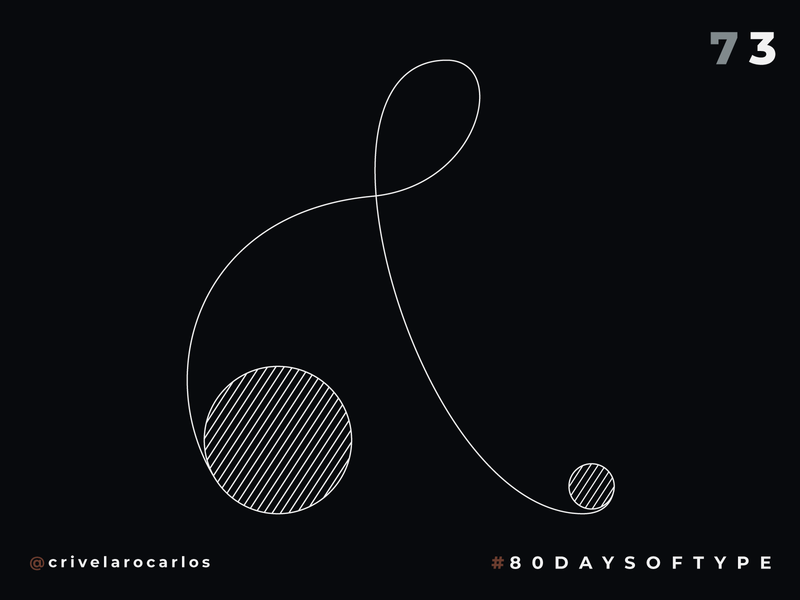 Penny-farthing Ampersand - 80 Days of Type illustrator ampersands ampersand 36daysoftype type art typeface type 80 days of type typedesign typography