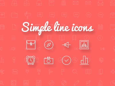 Simple Line Icons - 100+ free icons (Ai, Eps, Svg, Psd) free icons icon psd ai eps svg vector ui mail map freebie